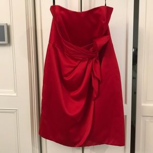 NWT Alfred Angelo Red strapless cocktail dress
